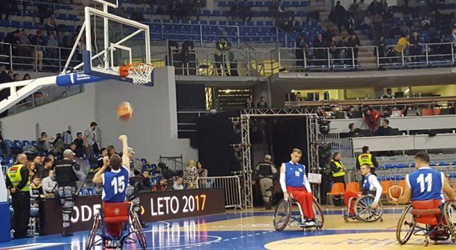 """Detalji sa poslednje promocije košarke u kolicima za vreme finalnog turnira  """"Kupa Radivoja Koraća 2017"""""""