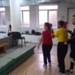 Dolazak na trening Tamara Miloradović, Stefan Stevanović,Luka Bulatović