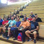 Učesnici sparinga na sastanku u amfiteatru Fakulteta sporta i fizičkog vaspitanja Univerziteta u Nišu