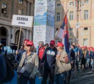 Foto: Facebook Defile srpske delegacije na Igrama u Đenovi